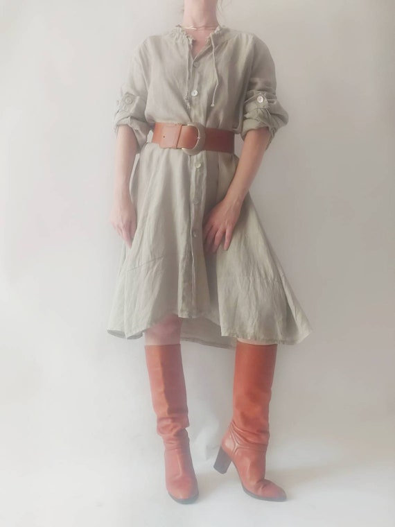 Vintage Pure Linen Dress ~ Made in Italy