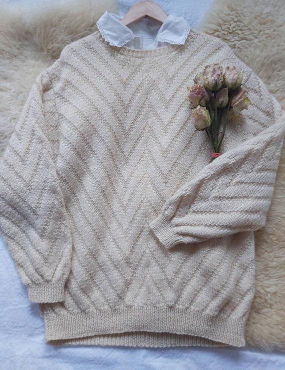 Vintage Fisherman Sweater ~ Pure Wool