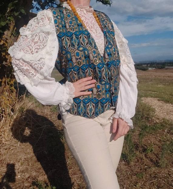 Vintage Embellished Bohemian Vest