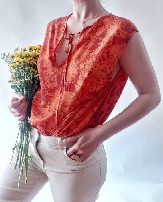 Vintage Silk Top ~ Handmade in Italy