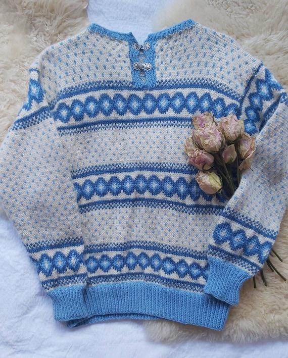 Vintage Norwegian Sweater ~ Pure Wool