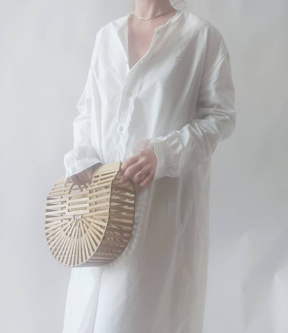 Matilde ~ Antique White Cotton Dress - image 3