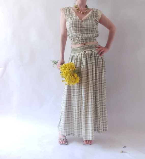 Vintage 80s/90s Praerie Top and Skirt