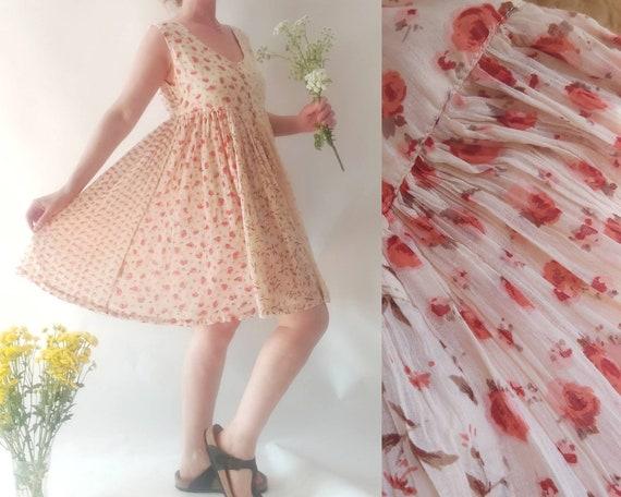 Vintage 90s Gauze Cotton Dress