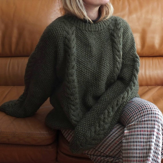 Vintage Chunky knit Sweater ~ Pure Wool