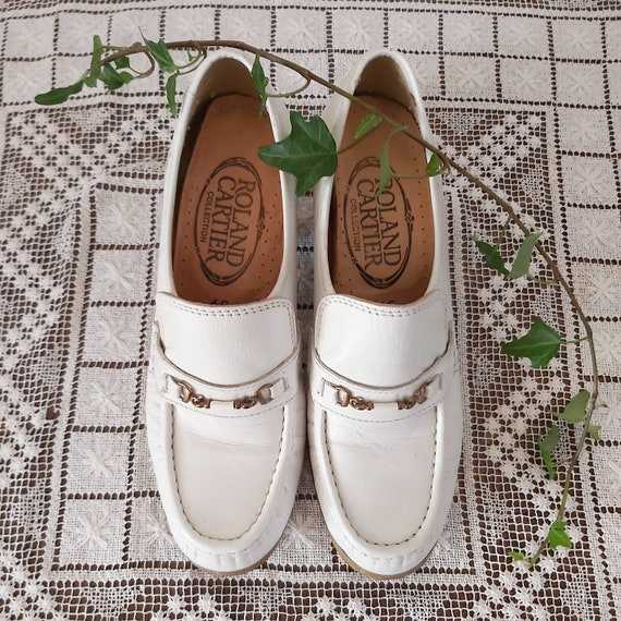 Vintage 60s/70s White Leather Shoes ~ Made in Italy