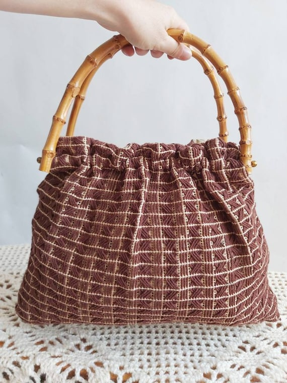 Vintage 60s/70s Bamboo Hippie Bag