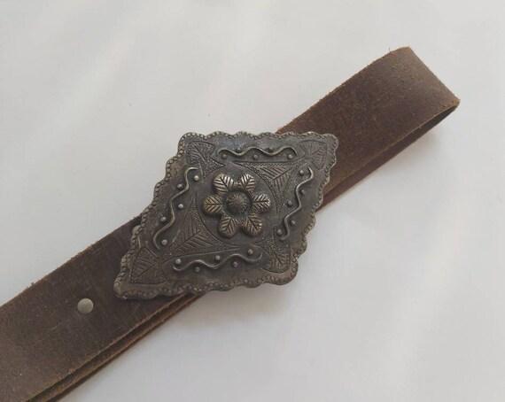 Vintage 70s Hippie Brass Belt