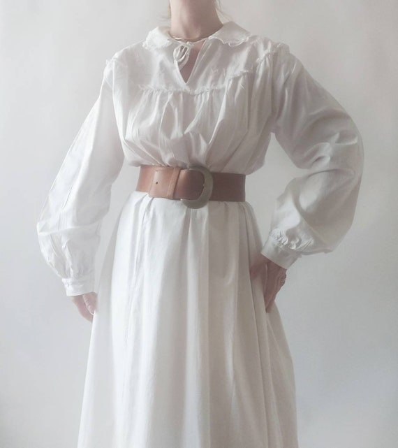 Emma ~ Vintage White Cotton Dress