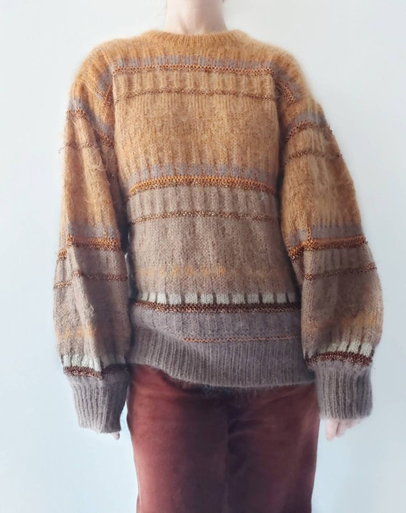 Vintage 80s Escada Sweater ~ Mohair Wool and Lurex