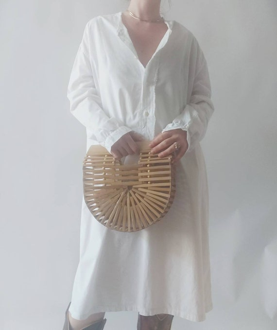 Matilde ~ Antique White Cotton Dress