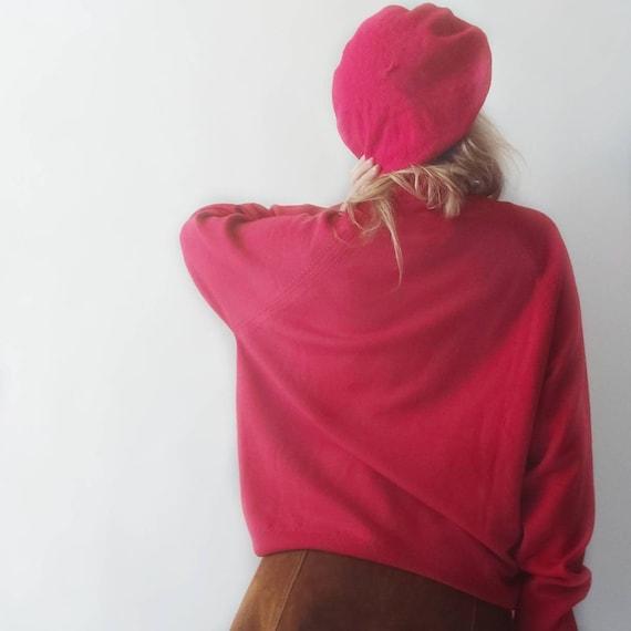 Vintage 60s Red Wool Beret
