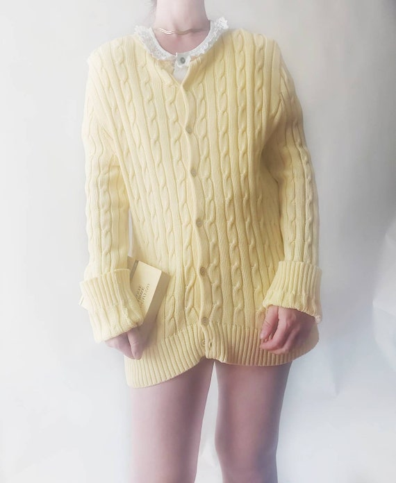 Vintage Pure Cotton Cardigan Sweater