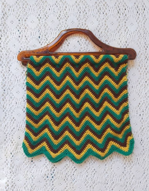 Vintage 70s Crochet Bag