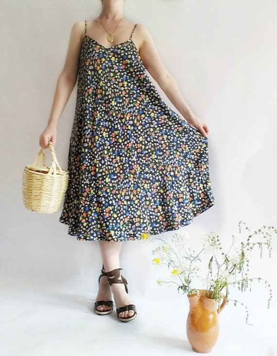 Stealing Beauty ~ Vintage 90s Slip Dress ~ Spaghetti Straps ~ Made in Italy