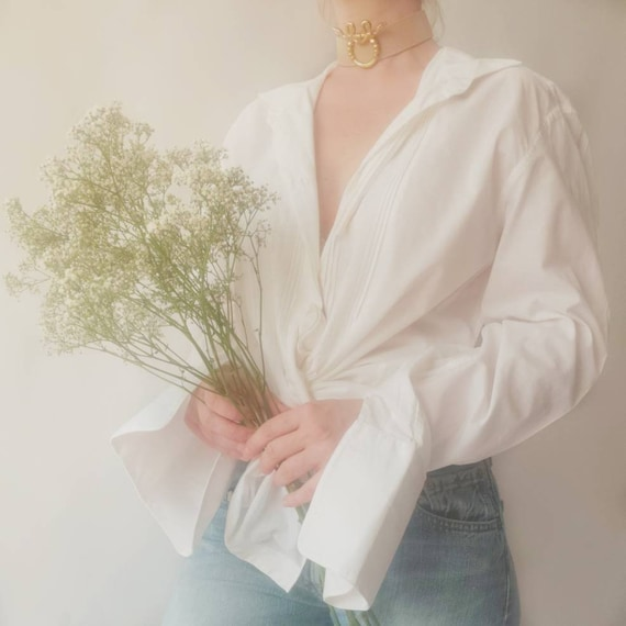 Vintage White Cotton Blouse by Cacharel