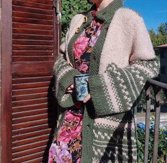 Vintage 70s Chunky Wool Cardigan