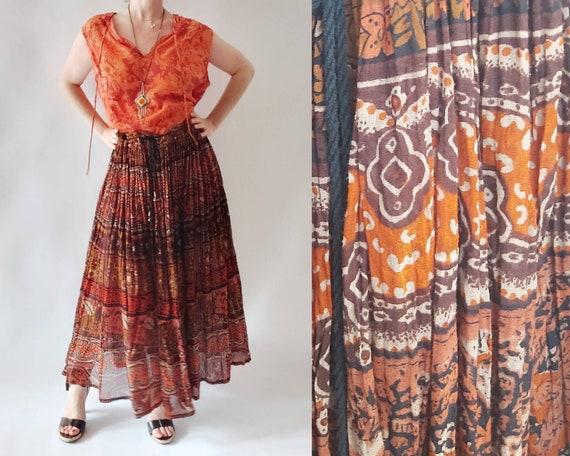 Vintage 70s Indian Cotton Skirt