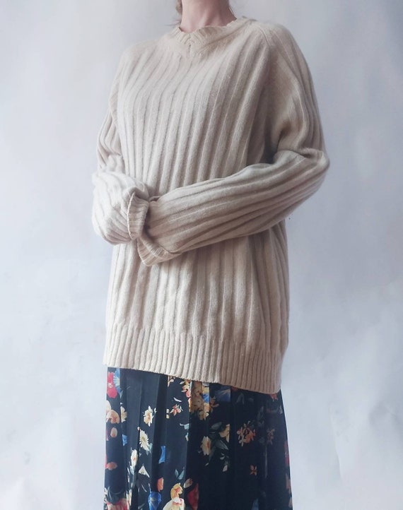 Cappuccino Vintage Sweater ~ Cachemire and Wool