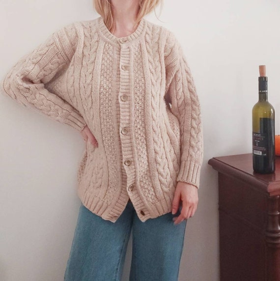 Vintage Handknitted Wool Cardigan ~ Made in Italy