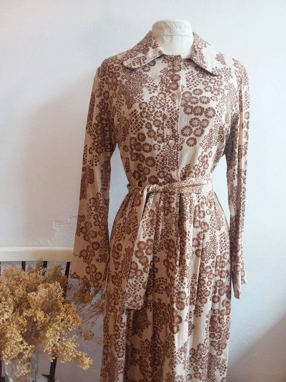 Vintage 70s Laura Ashley Dress ~ Hippie Cotton Maxi Dress ~ Bohemian Style