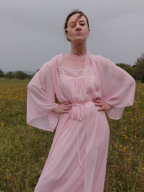 Vintage 70s Angel Sleeved Robe ~ Made in Italy