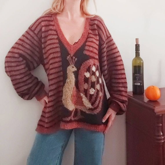 Vintage Handknitted Wool Sweater ~ Made in Italy