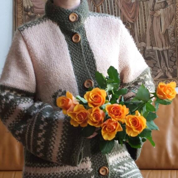 Vintage 70s Wool Cardigan