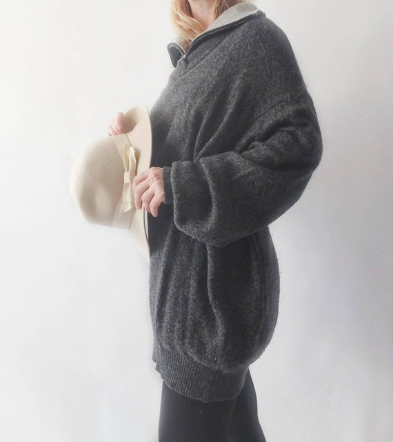 Vintage 90s Wool Sweater or Mini Dress ~ Made in Italy