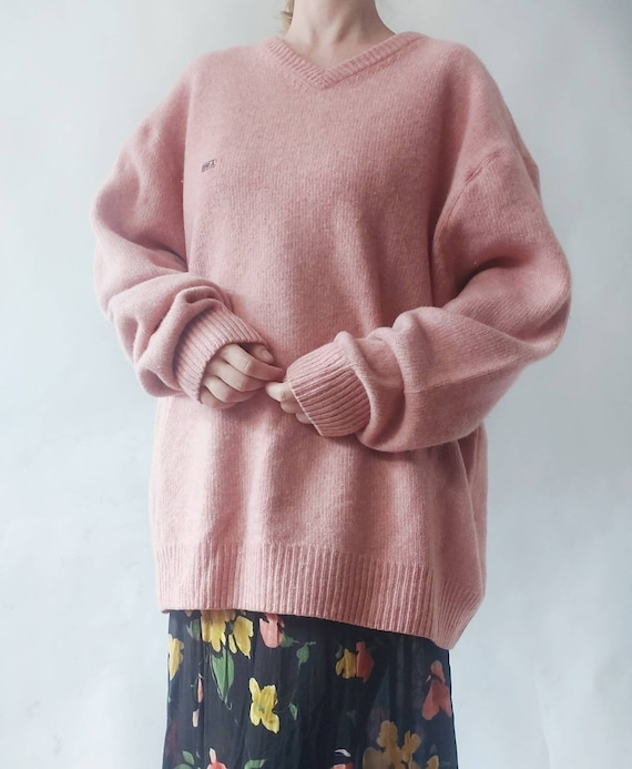 Petal Rose Vintage Sweater in Pure Wool