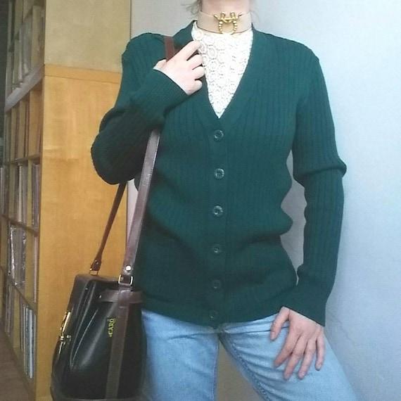 Pierre Cardìn ~ Vintage 70s Wool Cardigan ~ Made in Paris