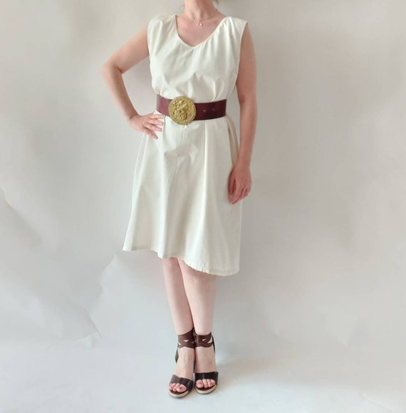 Antique Vintage White Cotton Dress