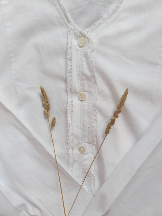 Matilde ~ Antique White Cotton Dress - image 5