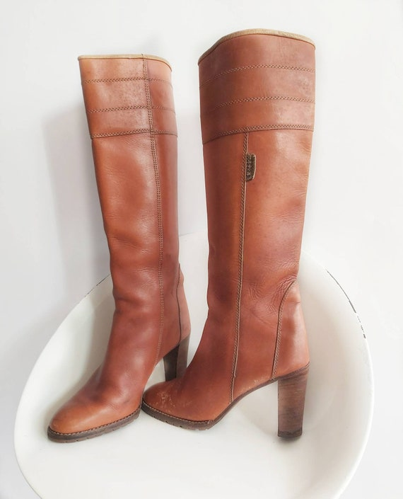 Vintage 70s Leather Boots ~ Made in Italy