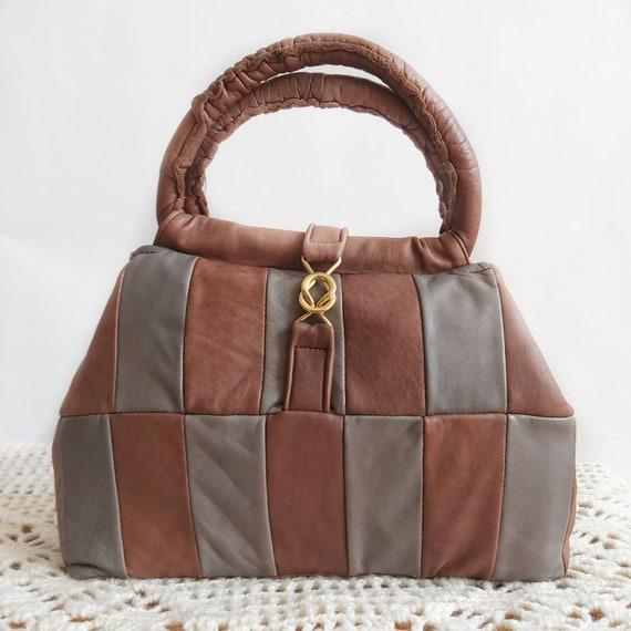 Vintage 70s Patchwork Leather Bag