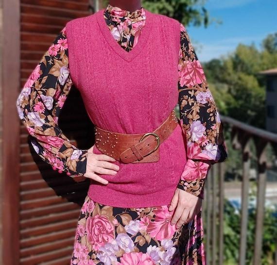 Vintage Pink Wool Vest