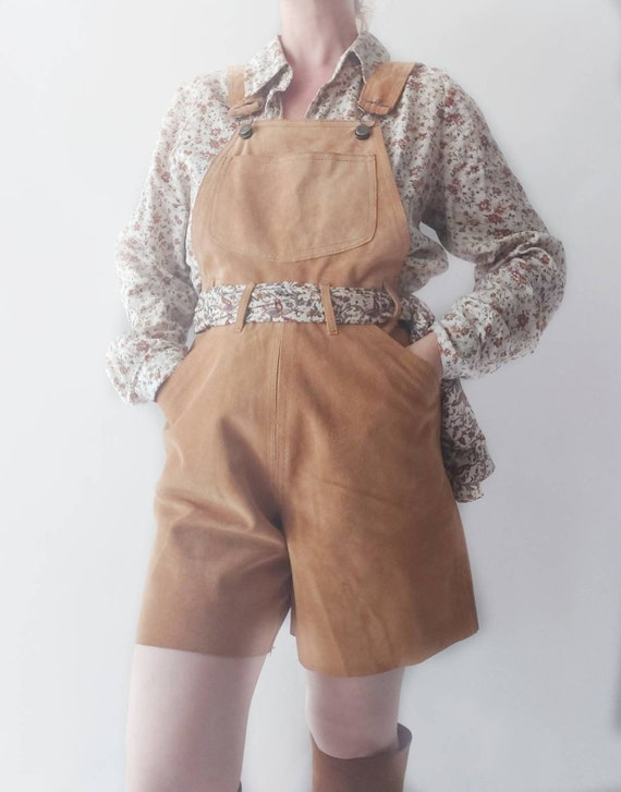 Vintage Suede Leather Romper ~ Made in Italy