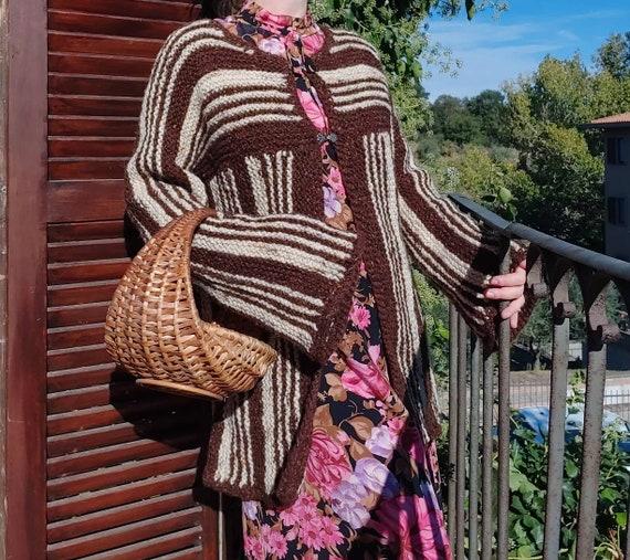 Vintage 60s Chunky Knit Cardigan