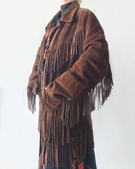 Vintage 70s Fringe Jacket in Suede Leather ~ Made in Canada