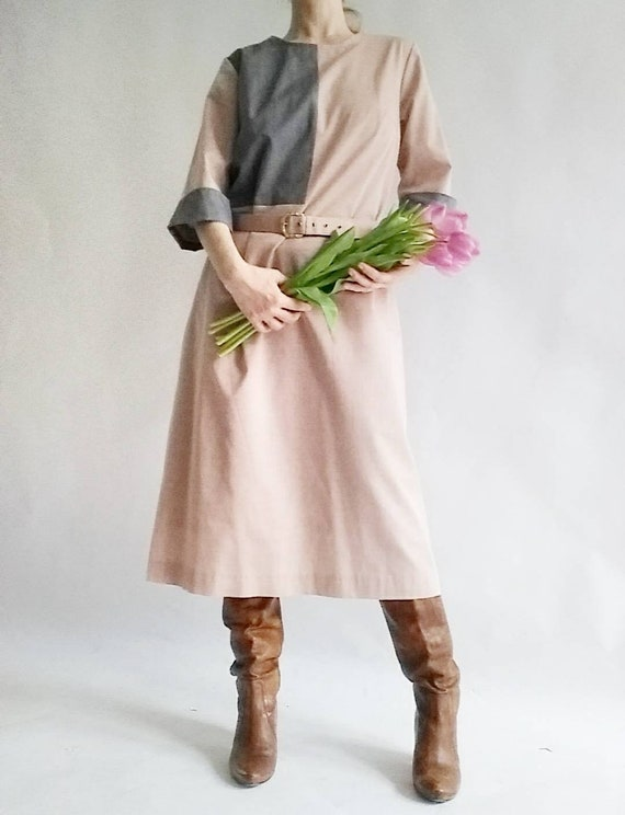 Vintage Belted Pink Dress