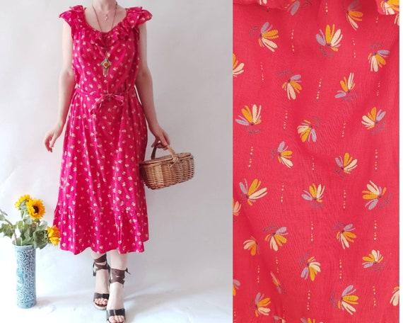 Vintage 70s Praerie Cotton Dress