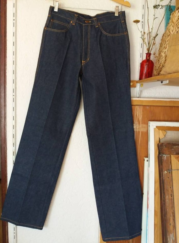 Vintage 70s Denim Trousers ~ Palazzo 70s Jeans ~ Highwaisted Vintage Pants ~ New from Dead Stock