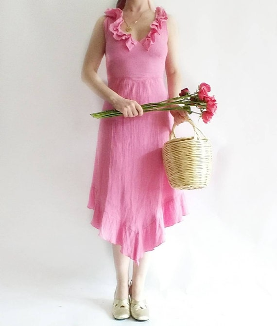 Vintage Cheesecloth Dress by Betty Barclay ~ Pure Cotton
