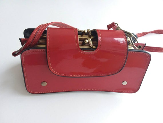 Vintage 60s/70s Red Clutch Bag ~ Made in Japan