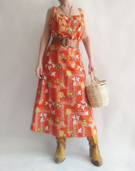 Vintage 60s/70s Dress ~ Cotton ~ Made in Honolulu