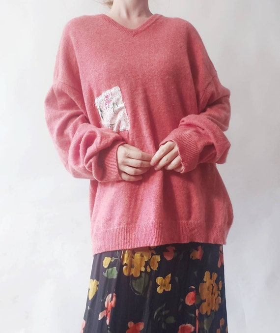 Strawberry Vintage Sweater in Pure Wool