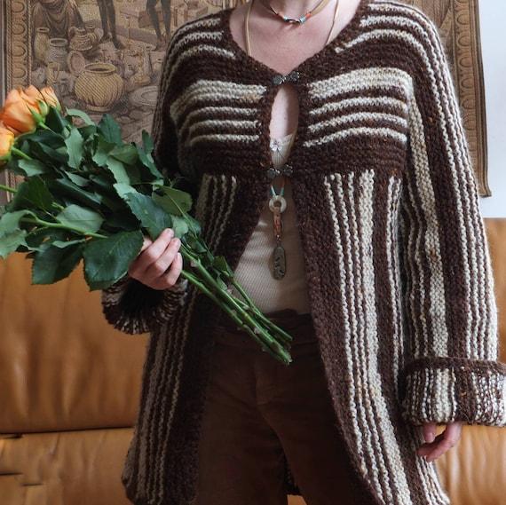 Vintage 70s Wool Cardigan Knit