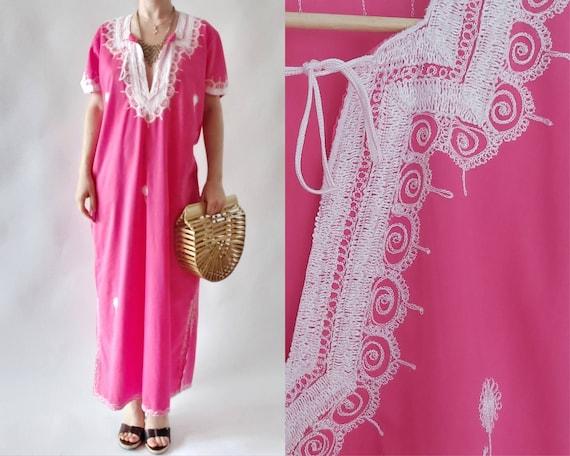 Moroccan Pink Caftan Dress