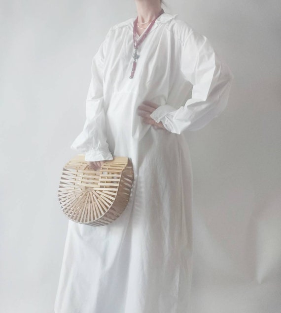 Filomena ~ Vintage White Cotton Dress