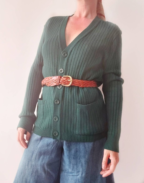 Pierre Cardìn ~ Vintage 70s Wool Cardigan ~ Made in Paris